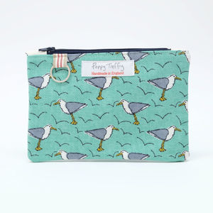 Cheeky Seagull Flat Purse With Keyring