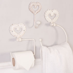 Isabelle Ivory Vintage Cast Iron Bathroom Range - toilet brushes