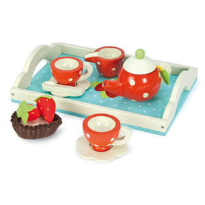 Tea Set Wooden Toy - pretend play & dressing up