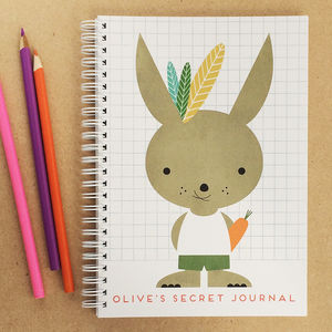 Personalised Kids Journal Rabbit