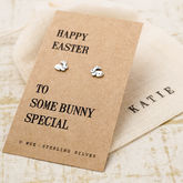Easter Gift Bunny Silver Earrings - women's jewellery