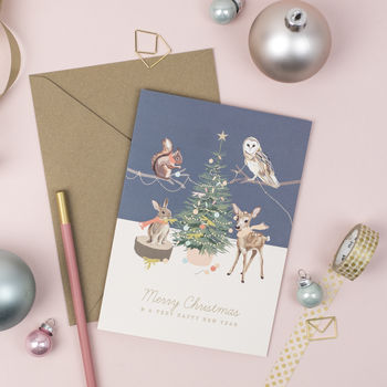 Festive Woodland Christmas Cards