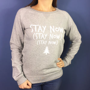 Stay Now Womens Christmas Jumper - christmas clothing & accessories