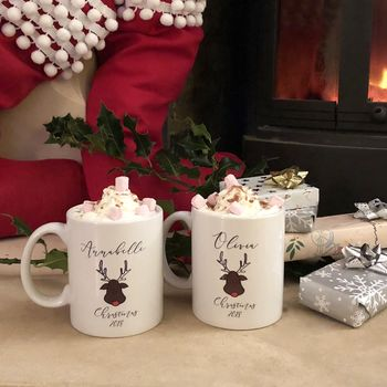 Personalised Christmas Reindeer Mug