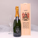 Personalised Champagne With Your Family Crest