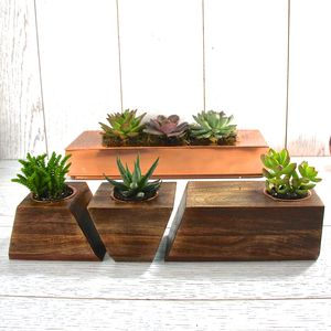 Jigsaw Succulent Holder - gifts for her