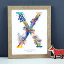 Personalised T To Z Pastel Wildlife Letter Print