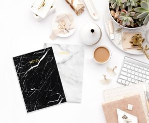 Marble And Gold Foil Set Of Notebooks - marble gifts