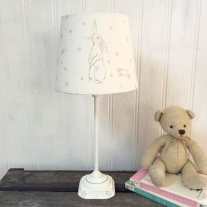 Handmade Rabbit All Star Linen Lampshade - lampshades