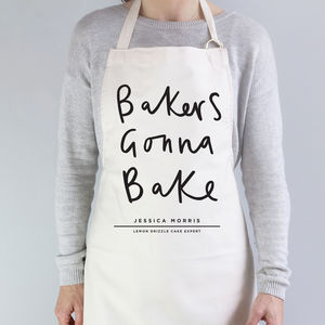 Bakers Gonna Bake Personalised Apron - gifts for bakers