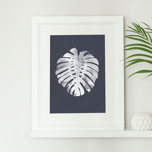 Tropical Monstera Botanical Leaf Print Watercolour - drawings & illustrations