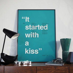 Personalised Favourite Song Lyric Minimalist Print - posters & prints