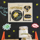 Kids Chalkboard Placemat Superhero Design