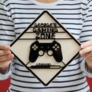 Personalised Gaming Zone Door Sign