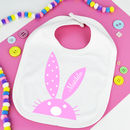 Personalised Spotty Bunny Bib