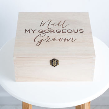 Personalised Groom Keepsake Box
