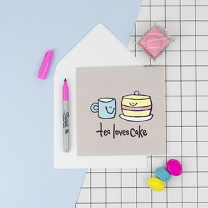 'Tea And Cake' Birthday Card