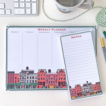 Downtown Nyc Weekly Desk Planner And Notes Set