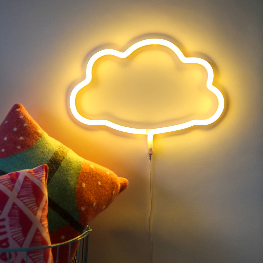 neon style led wall light by berylune | notonthehighstreet.com