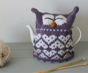 Owl Heart Cosy Knitting Kit