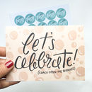'Let's Celebrate' Congratulations/Engagement Card