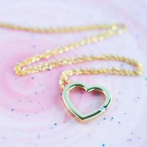 9ct Gold Diamond Heart Necklace*