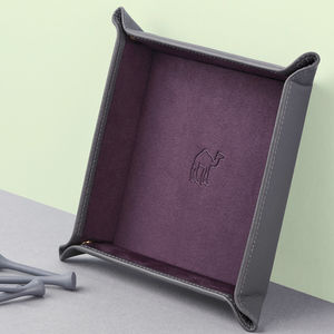 Luxury Leather Coin Tray - jewellery sale