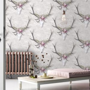 George The Stag Wallpaper By Woodchip And Magnolia - wallpaper