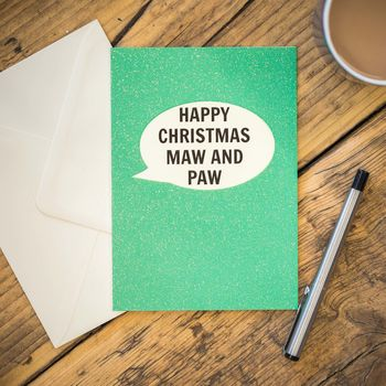 Happy Christmas Maw And Paw Card