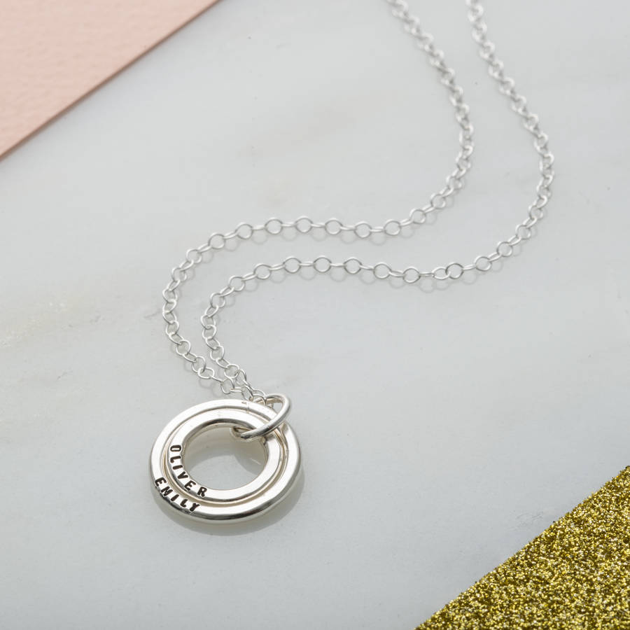 Very personalised baby names necklace by posh totty designs  OY27