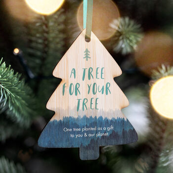 'A Tree For Your Tree' Tree Planting Decoration