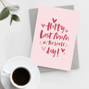 'Best Mum' Mother's Day Card