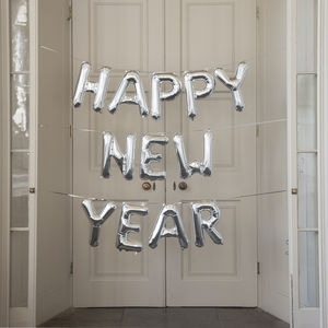 Happy New Year 16 Inch Balloon Letters - new years eve entertaining