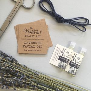 Organic Lavender Facial Oil Favour - wedding favours