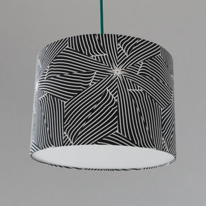 Large Black And White Bold Lampshade For The Home - lamp bases & shades