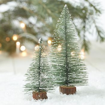 Vintage Miniture Christmas Trees