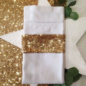 Christmas Sequin Napkin Holders Four Pack - dining room