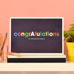 Personalised Congratulations Exam Results Card