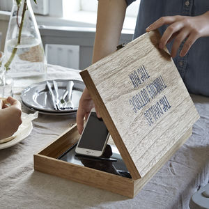 Personalised 'Digital Detox Box' For Storing Gadgets