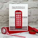 'Telephone Box' Personalised Birthday Card
