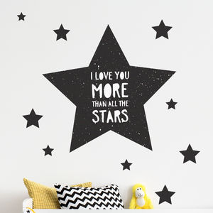 'Love You More Than All The Stars' Wall Stickers - new in