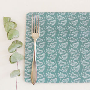 Set Of Four Cow Parsley Placemats