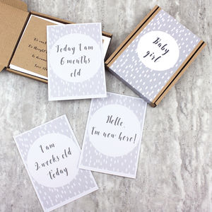 New Baby Milestone Cards Giftbox