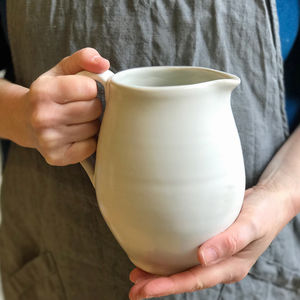 Cafe Stoneware Jug - ceramic studio