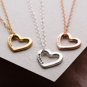 Personalised Love Heart Necklace - necklaces & pendants