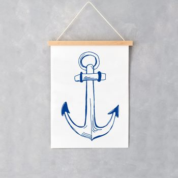 Nautical Anchor A4 Print