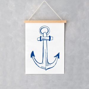 Nautical Anchor A4 Print - view all new