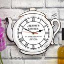 Personalised Wall Clock With Tea Pot Design