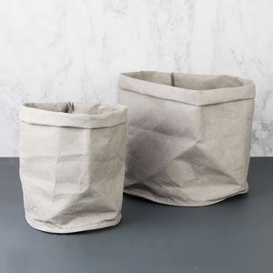 Mini Round Grey Storage Bag - storage