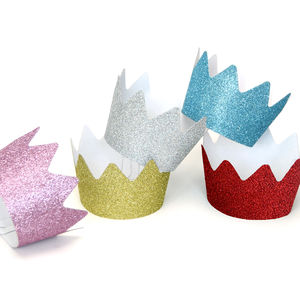 Children's Birthday Party Glitter Crowns - childrens birthday